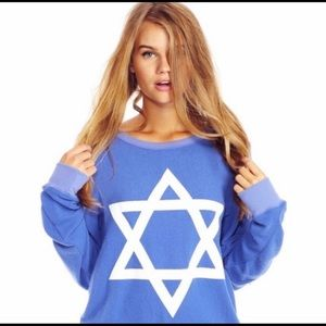 Wildfox Star of David BBJ Pullover NWT